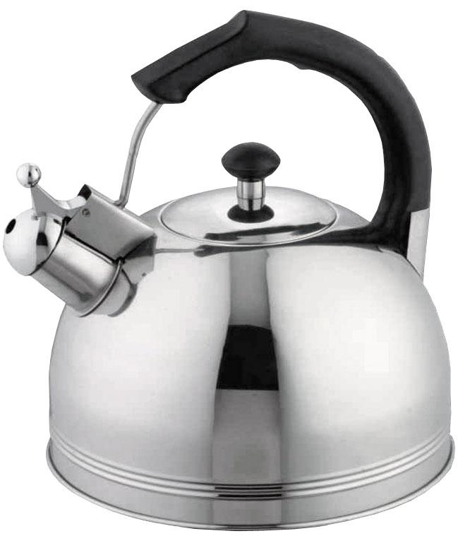 Чайник Bohmann, цвет: стальной, 5,5 л. 9981BHBK9981BHBKЧайник Корпус - Нержавеющая сталь. Бакелитовая ручка Черная. Подходит к газовым, электрическим, стеклокерамическим плитам. Объем 5.5л.