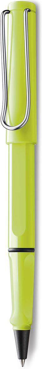 Lamy Safari Ручка-роллер 343 M63 черная цвет корпуса неоновый лайм1628194LAMY safari Самая популярная ручка бренда LAMY. Создана в 1980 году в коллаборации с дизайнерами и психологами специально для подростков. Сейчас трудно найти в Европе школу или университет, где не писали бы LAMY safari. В 80-е дизайн этой ручки многим казался немного странным, ни на что непохожим, что, вероятно, и привлекло молодежь, которую уже не устраивал традиционный дизайн обычных ручек. LAMY safari хорошо показала себя в деле: ее эргономика такова, что рука не устает даже от долгого письма. Сейчас этими ручками пишут и рисуют, а также их коллекционируют – помимо широкой гаммы постоянных цветов, каждый год выходит лимитированный выпуск ручек в самом модном цвете. Выполнена из прочного ABS пластика. Эргономичный хват, позволяющий пальцам принять правильное положение при письме. Металлический клип на колпачке напоминает по форме канцелярскую скрепку.Чернильный роллер пишет мягко и почти без нажима - подобно перьевой ручке, но прост в обращении, как шариковая, т.к. при письме чернила подаются на бумагу с помощью шарика на конце стержня. Используется со стержнями LAMY М63. Дизайн: Вольфганг Фабиан История бренда LAMY насчитывает более 80-ти лет, а его философия заключается в слогане Дизайн. Сделано в Германии. Компания получила более 100 самых престижных дизайнерских наград. Все пишущие инструменты LAMY производятся на фабрике в Гейдельберге (Германия).