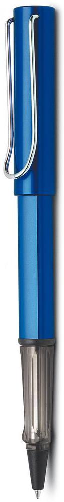 Lamy Al-star Ручка-роллер 328 M63 черная цвет корпуса синий4001136Ручка-роллер Al-star из самой популярной линейки бренда Lamy.Ручка выполнена из анодированного алюминия.На ручке есть металлический клип, который своим внешним видом напоминает скрепку.Ручка идеального размера, что позволяет принять правильное положение пальцев на письме.В ручке-роллере используется стержень Lamy М63. Цвет пасты - черный.Ручка упакована в подарочную коробку.