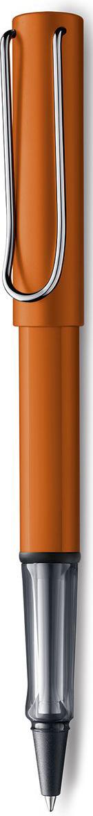 Lamy Al-star Ручка-роллер 342 M63 черная цвет корпуса медно-оранжевый1627797Ручка-роллер Al-star из самой популярной линейки бренда Lamy.Ручка выполнена из анодированного алюминия.На ручке есть металлический клип, который своим внешним видом напоминает скрепку.Ручка идеального размера, что позволяет принять правильное положение пальцев на письме.В ручке-роллере используется стержень Lamy М63. Цвет пасты - черный.Ручка упакована в подарочную коробку.