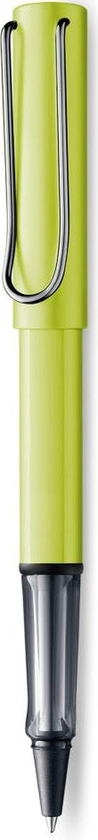 Lamy Al-star Ручка-роллер 352 M63 черная цвет корпуса зеленый4030065Алюминиевая версия культовой модели LAMY safari под названием LAMY Al-star. Корпус и колпачок из анодированного алюминия. Эргономичный хват, позволяющий пальцам принять правильное положение при письме, изготовлен из прозрачного пластика.Металлический клип на колпачке напоминает по форме канцелярскую скрепку.Чернильный роллер пишет мягко и почти без нажима - подобно перьевой ручке, но прост в обращении, как шариковая, т.к. при письме чернила подаются на бумагу с помощью шарика на конце стержня. Используется со стержнями LAMY М63. Дизайн: Вольфганг Фабиан История бренда LAMY насчитывает более 80-ти лет, а его философия заключается в слогане Дизайн. Сделано в Германии. Компания получила более 100 самых престижных дизайнерских наград. Все пишущие инструменты LAMY производятся на фабрике в Гейдельберге (Германия).