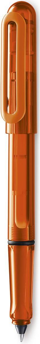 Lamy Balloon Ручка-роллер 311 T11 синяя цвет корпуса оранжевый4029788LAMY balloon (311)Чернильный роллер, заправляющийся картриджами с интегрированным пишущим узлом. Прочный и легкий корпус из целлидора – органического пластика, на 45% состоящего из целлюлозы. Кончик пишущего узла картриджа изготовлен из нержавеющей стали, мягкое скольжение которого гарантирует комфортное письмо. Отстирывающиеся чернила. Эргономичный хват с небольшими выемками для правильного положения пальцев при письме. Эластичный клип для крепления к карману или к обложке тетрадей и ежедневников. Прозрачный корпус зеленого цвета. Используется с картриджами LAMY T11 синего цвета Поставляется в подарочной коробке. Дизайн: Вольфганг Фабиан История бренда Lamy насчитывает более 80-ти лет, а его философия заключается в слогане Дизайн. Сделано в Германии. Компания получила более 100 самых престижных дизайнерских наград. Все пишущие инструменты Lamy производятся на фабрике в Гейдельберге (Германия).