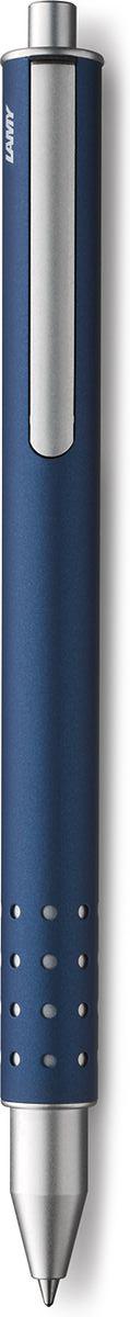 Lamy Swift Ручка-роллер 334 M66 черная цвет корпуса синий4001155LAMY swift (334) Чернильный роллер без колпачка. В этой модели единственный в своем роде дизайн соединен с инновативной функциональностью. 32 круглых отверстия не только оптически отделяют гладкий корпус от зоны хвата, но и не дают пальцам скользить при письме. Роллер пишет мягко и почти без нажима - подобно перьевой ручке, но прост в обращении, как шариковая, т.к. при письме чернила подаются на бумагу с помощью шарика на конце стержня. Инновативный кнопочный механизм активирует пишущий узел и одновременно утапливает клип внутрь корпуса. Таким образом, клип не мешает при письме. Когда стержень убирается внутрь, клип выдвигается наружу – теперь ручку можно прикрепить к карману пиджака или к обложке ежедневника. Полностью металлический корпус. Матовый темно-синий лак. Используется со стержнем LAMY M66.Комплектация: подарочный футляр, гарантийная карточка, буклет. Дизайн: Вольфганг Фабиан История бренда Lamy насчитывает более 80-ти лет, а его философия заключается в слогане Дизайн. Сделано в Германии. Компания получила более 100 самых престижных дизайнерских наград. Все пишущие инструменты Lamy производятся на фабрике в Гейдельберге (Германия).
