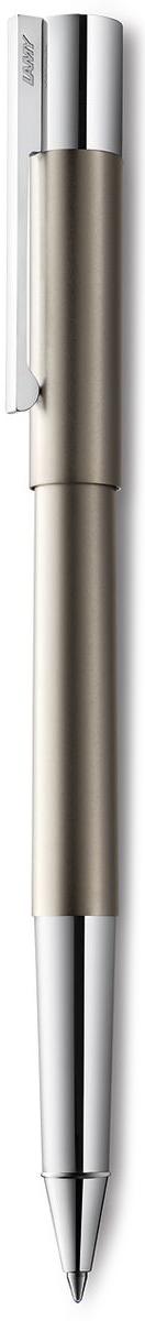 Lamy Scala Ручка-роллер 378 M63 черная цвет корпуса титановый4031805LAMY scala титан (378) Модель LAMY scala разработана в коллаборации с титулованным дизайнерским бюро Sieger Design и представляет собой совершенно новую интерпретацию классической перьевой ручки. Корпус цилиндрической формы изготовлен из высококлассной нержавеющей стали. Благодаря этому материалу, ручка имеет оптимальный и комфортный для письма вес. Необычные пропорции и контрастирующие поверхности делают этот дизайн очень эмоциональным. Солидный прямоугольный клип на колпачке является технической изюминкой – он хромирован и подпружинен, и словно вырастает из такой же хромированной части ручки.Покрытие корпуса – титан.Чернильный роллер пишет мягко и почти без нажима - подобно перьевой ручке, но прост в обращении, как шариковая, т.к. при письме чернила подаются на бумагу с помощью шарика на конце стержня. Используется со стержнями LAMY М63. Комплектация: подарочный футляр, гарантийная карточка, буклет.Дизайн: Sieger Design История бренда LAMY насчитывает более 80-ти лет, а его философия заключается в слогане Дизайн. Сделано в Германии. Компания получила более 100 самых престижных дизайнерских наград. Все пишущие инструменты LAMY производятся на фабрике в Гейдельберге (Германия).