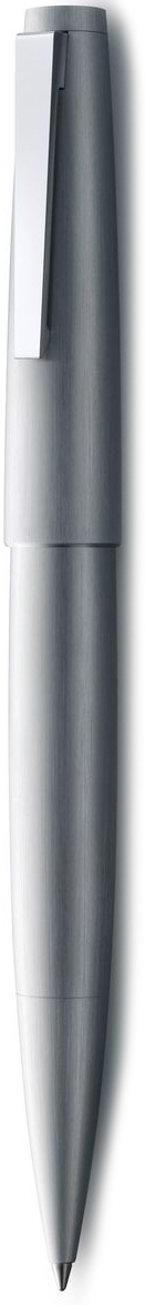 LAMY 2000 (302) Эта ручка – икона стиля, олицетворяющая собой дизайн LAMY. Создана в традициях школы Баухауз с ее девизом Форма следует за функцией.  LAMY 2000 свободна от излишеств как в материалах, так и в дизайне: функциональность и минимализм – ее главные черты. Корпус сигарной формы удобно лежит в руке. Эта премиальная версия LAMY 2000 изготовлена из нержавеющей стали матовой брашинг-полировки. Массивный стальной подпружиненный клип на колпачке довершает лаконичный и элегантный внешний вид этой ручки. Чернильный роллер пишет мягко и почти без нажима - подобно перьевой ручке, но прост в обращении, как шариковая, т.к. при письме чернила подаются на бумагу с помощью шарика на конце стержня. Используется со стержнями LAMY М63. Комплектация: подарочный футляр, гарантийная карточка, буклет. Дизайн: Герд А. Мюллер  История бренда LAMY насчитывает более 80-ти лет, а его философия заключается в слогане Дизайн. Сделано в Германии. Компания получила более 100 самых престижных дизайнерских наград. Все пишущие инструменты LAMY производятся на фабрике в Гейдельберге (Германия).