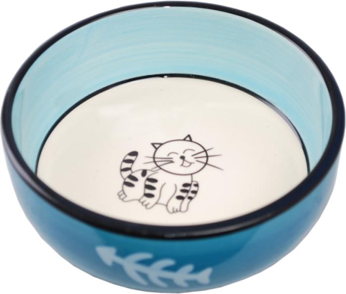 Миска для животных №1 Кошка, 13,4 х 13,4 х 4 см. МКР216МКР216Керамическая миска для кошек. Проста в использовании, гигиенична и долговечна. Антибактериальные свойства. Не впитывает жир и запах. Нетоксична. Рассчитана на длительное активное использование.
