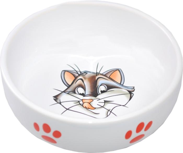 Миска для животных №1 Кошка, 13,4 х 13,4 х 4 см. МКР134МКР134Керамическая миска для кошек. Проста в использовании, гигиенична и долговечна. Антибактериальные свойства. Не впитывает жир и запах. Нетоксична. Рассчитана на длительное активное использование.