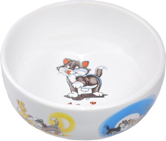Миска для животных №1 Коты, 13,4 х 13,4 х 4 смМКР128Керамическая миска для кошек. Проста в использовании, гигиенична и долговечна. Антибактериальные свойства. Не впитывает жир и запах. Нетоксична. Рассчитана на длительное активное использование.
