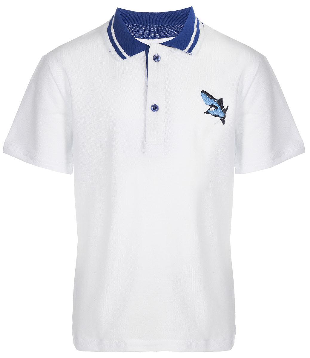 Поло для мальчика Arge Fashion, цвет: белый. УЗТ-ФПМ-100-3. Размер 116УЗТ-ФПМ-100-3