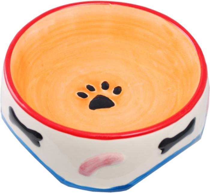 Миска для животных №1 Лапки. Косточки, 15 х 15 х 6,25 смМКР098Керамическая миска для кошек. Проста в использовании, гигиенична и долговечна. Антибактериальные свойства. Не впитывает жир и запах. Нетоксична. Рассчитана на длительное активное использование.