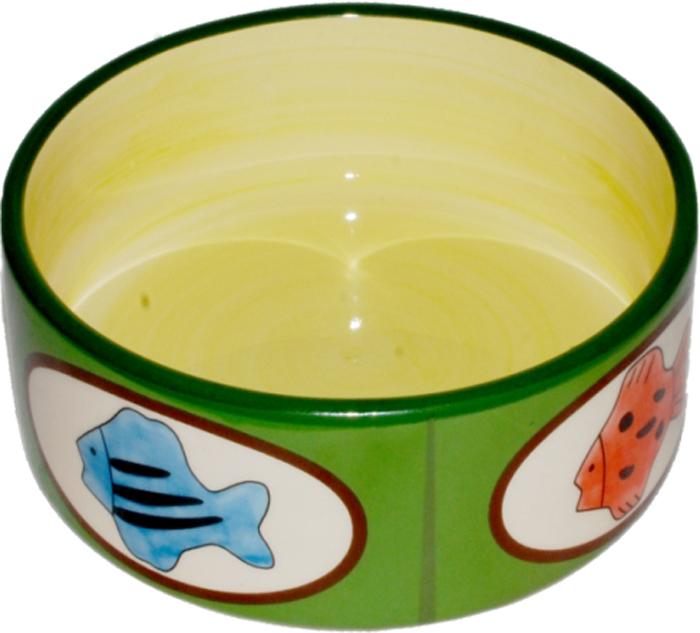 Миска для животных №1 Рыбки, 12,5 х 12,5 х 5 см. МКР087 миска для кошек собак гамма n0