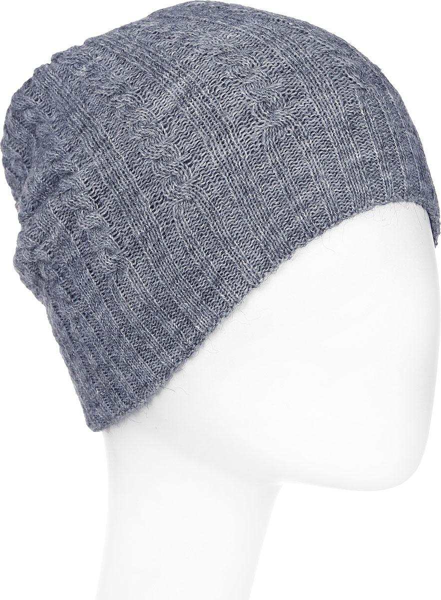 Шапка женская Paccia, цвет: серый. NR-21715-1. Размер 55/58NR-21715-1Вязаная женская шапка Paccia выполнена из акрила с добавлением шерсти. Эта шапка не только согреет в прохладную погоду, но и стильно дополнит ваш образ.