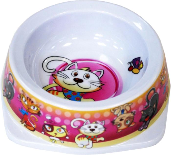 Миска для животных №1 Кошки, 150 млА1003-1/2Антибактериальные свойства. Не впитывает жир и запах. Нетоксична. Рассчитаны на длительное активное использование. Имеет вид и прочность пластиковой посуды.