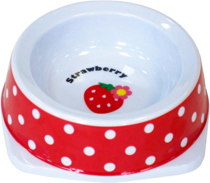 Миска для животных №1 Клубничка, 150 млА1003-1/1Антибактериальные свойства. Не впитывает жир и запах. Нетоксична. Рассчитаны на длительное активное использование. Имеет вид и прочность пластиковой посуды.