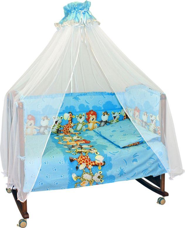 Сонный гномик Комплект белья для новорожденных Африка цвет голубой 6 предметов коврик домашний sunstep цвет синий 140 х 200 х 4 см