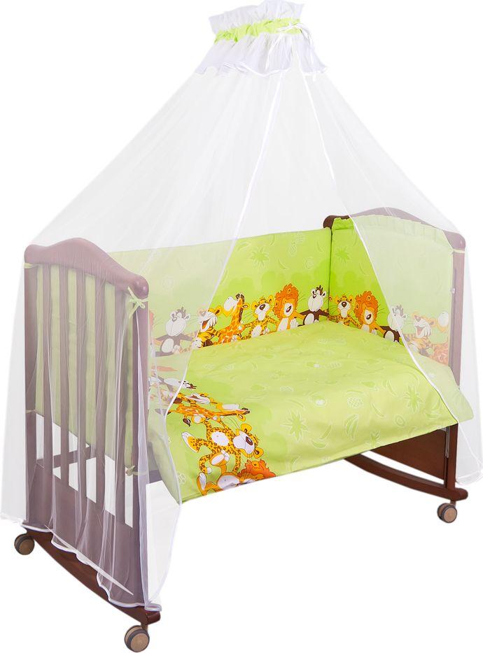 Сонный гномик Комплект белья для новорожденных Африка цвет светло-зеленый 6 предметов коврик домашний sunstep цвет синий 140 х 200 х 4 см