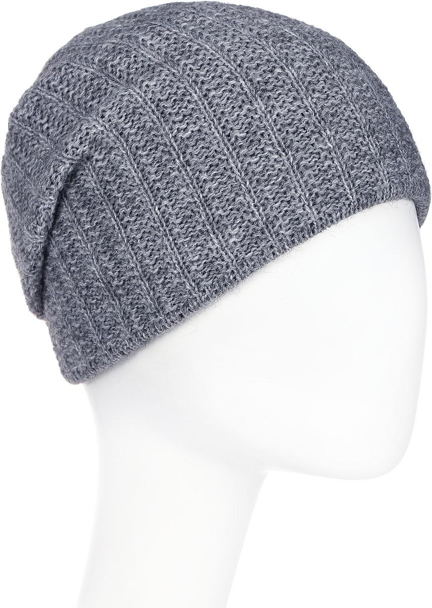 Шапка женская Paccia, цвет: серый. NR-21714-1. Размер 55/58NR-21714-1Вязаная женская шапка Paccia выполнена из акрила с добавлением шерсти. Эта шапка не только согреет в прохладную погоду, но и стильно дополнит ваш образ.