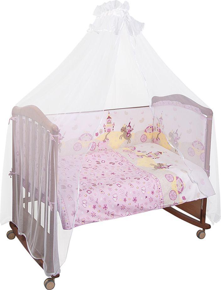 Сонный гномик Комплект белья для новорожденных Золушка цвет розовый 6 предметов кроссовки женские adidas advantage clean qt цвет темно синий f97212 размер 5 5 37 5