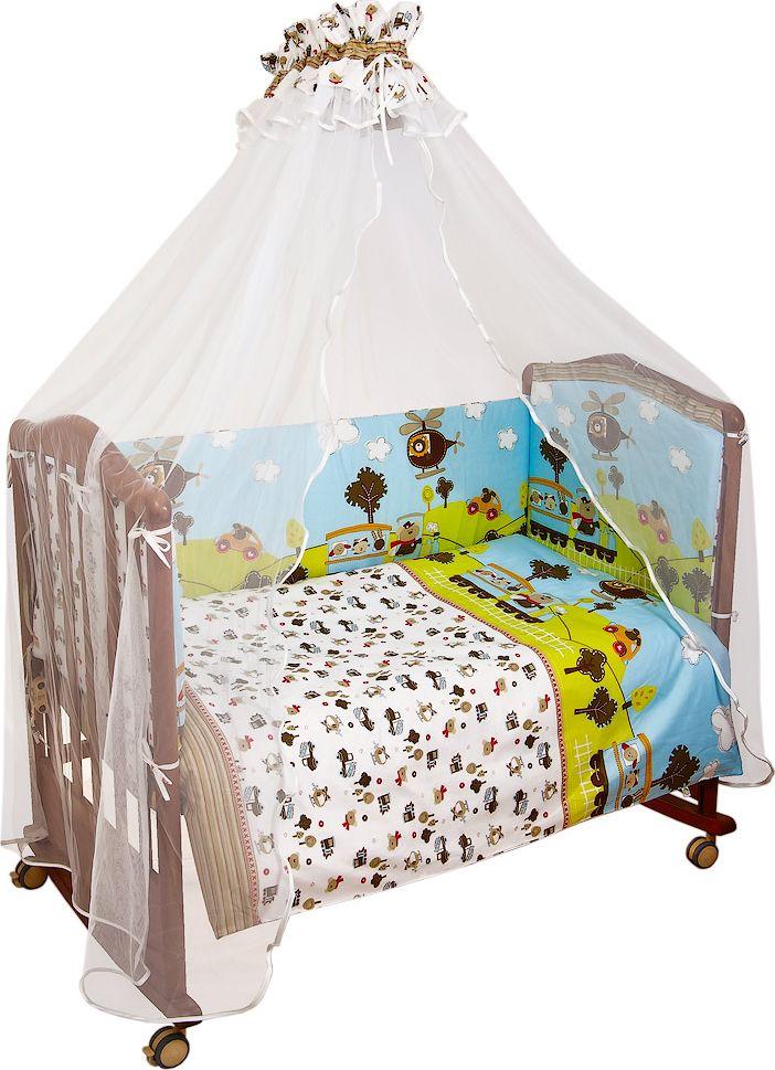 Сонный гномик Комплект белья для новорожденных Каникулы цвет голубой 6 предметов коврик домашний sunstep цвет синий 140 х 200 х 4 см