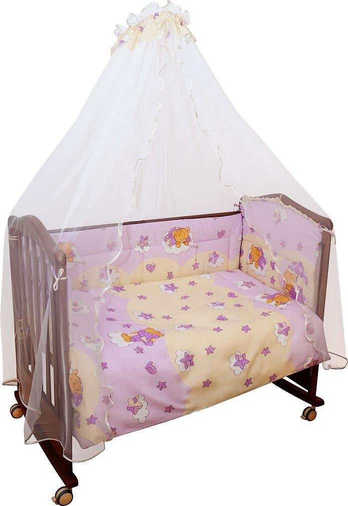 Сонный гномик Комплект белья для новорожденных Мишкин сон цвет розовый 6 предметов603/2Постельное белье для новорожденных Мишкин Сон, выполненное из натурального хлопка плотного плетения (120 г/м2), отлично сохраняет теплои поддерживает комфортную температуру для малыша, при этом не вызывая аллергии. Благодаря высокому качеству материала, обладаетотличной износостойкостью, комплекты выдерживают частые стирки и прослужат вам не один год, при этом сохраняя прекрасный внешний вид,яркий рисунок и основные свойства. Комплектация: наволочка, подушка, простынь, пододеяльник, одеяло, борт со съемным чехлом намолнии из 4 частей для кроватки 120 х 60 см. Размер наволочки: 60 х 40 см. Размер подушки: 60 х 40 см. Размер простыни: 100 х 140 см. Размер пододеяльника: 110 х 140 см. Размер одеяла: 110 х 140 см. Размер борта: 360 х 38 см.