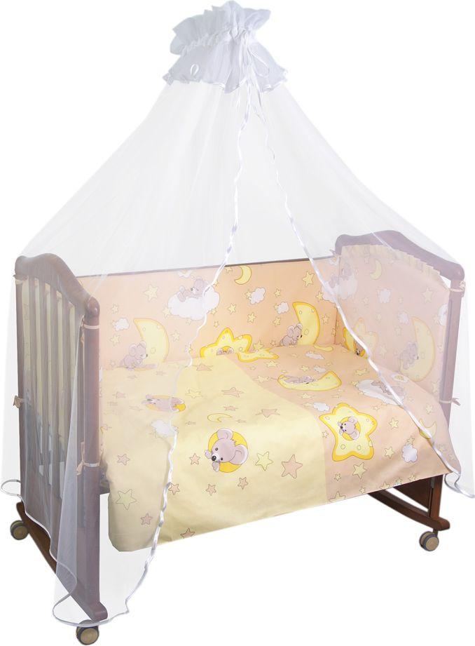 Сонный гномик Комплект белья для новорожденных Сыроежкины сны цвет темно-бежевый 6 предметов641/4Постельное белье для новорожденных Сыроежкины сны, выполненное из натурального хлопка плотного плетения (120гр на м2), отлично сохраняет тепло и поддерживает комфортную температуру для малыша, при этом не вызывая аллергии. Благодаря высокому качеству материала, обладает отличной износостойкостью, комплекты выдерживают частые стирки и прослужат вам не один год, при этом сохраняя прекрасный внешний вид, яркий рисунок и основные свойства. Комплектация: Наволочка, подушка, простынь, пододеяльник, одеяло, борт со съемным чехлом на молнии из 4 частей для кроватки 120х60 Размер, см: Наволочка: 60х40, Подушка: 60х40, Простынь: 100х140, Пододеяльник: 110х140, Одеяло: 110х140, Борт, ДхВ: 360х44 Наполнитель: Подушка: Холлофайбер (плотность 200г/кв. м), Одеяло: Холлофайбер (плотность 200г/кв. м), Борт: Холлофайбер Хард (плотность 400г/кв. м)
