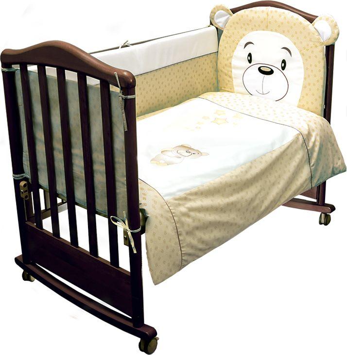 Сонный гномик Комплект белья для новорожденных Умка цвет бежевый 6 предметов676/4Постельное белье для новорожденных Умка, выполненное из натурального хлопка плотного плетения (110 г/м2), отлично сохраняет тепло и поддерживает комфортную температуру для малыша, при этом не вызывая аллергии. Благодаря высокому качеству материала, обладает отличной износостойкостью, комплекты выдерживают частые стирки и прослужат вам не один год, при этом сохраняя прекрасный внешний вид, яркий рисунок и основные свойства. Съемные чехлы на молнии бортиков упростят уход и сэкономят маме дополнительное время для отдыха. Раздельные бортики на 4 стороны кроватки легко крепятся благодаря прочным завязкам с верхней и нижней стороны. Комплектация: наволочка, подушка, простынь на резинке, пододеяльник, одеяло, борт со съемным чехлом на молнии из 4 частей для кроватки 120 х 60 см. Размер наволочки: 60 х 40 см. Размер подушки: 60 х 40 см. Размер простыни: 100 х 140 см. Размер пододеяльника: 110 х 140 см. Размер одеяла: 110 х 140 см. Размер борта: 360 х 43 см.Наполнитель подушки: холлофайбер (плотность 200 г/м2). Наполнитель одеяла: холлофайбер (плотность 200 г/м2). Наполнитель борта: холлофайбер хард (плотность 400 г/м2).