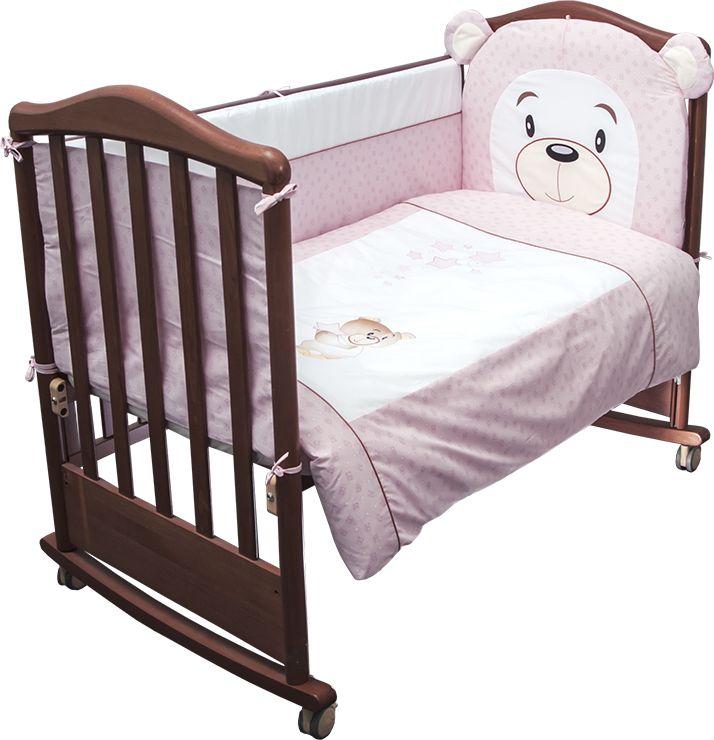 Сонный гномик Комплект белья для новорожденных Умка цвет розовый 6 предметов балетки женские чиполлино цвет темно синий 831 2b размер 36