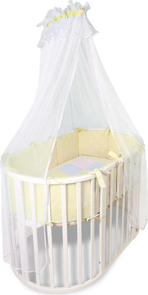 Сонный гномик Комплект в круглую кроватку Африка цвет темно-бежевый 2 предмета231-12/4Комплект для новорожденных Африка состоит из бортика из 12 подушек со съемными чехлами и балдахина. Чехлы выполнены из натурального хлопка плотного плетения (бязь). Благодаря высокому качеству материала, обладает отличной износостойкостью, комплекты выдерживают частые стирки и прослужат вам не один год, при этом сохраняя прекрасный внешний вид, яркий рисунок и основные свойства. Комплектация: бортик из 12 подушек со съемными чехлами, балдахин.Размер бортика-подушки: 30 х 30 см. Размер балдахина: 400 см. Материал верха: бязь (100% хлопок). Материал балдахина: сетка (100% полиэстер). Наполнитель: холлофайбер хард (плотность 400 г/м2).