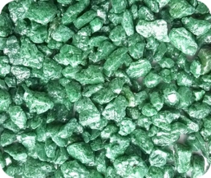 Грунт для аквариума Уют, натуральный, мраморная крошка, цвет: салатовый, 5-10 мм, 0,5 кг