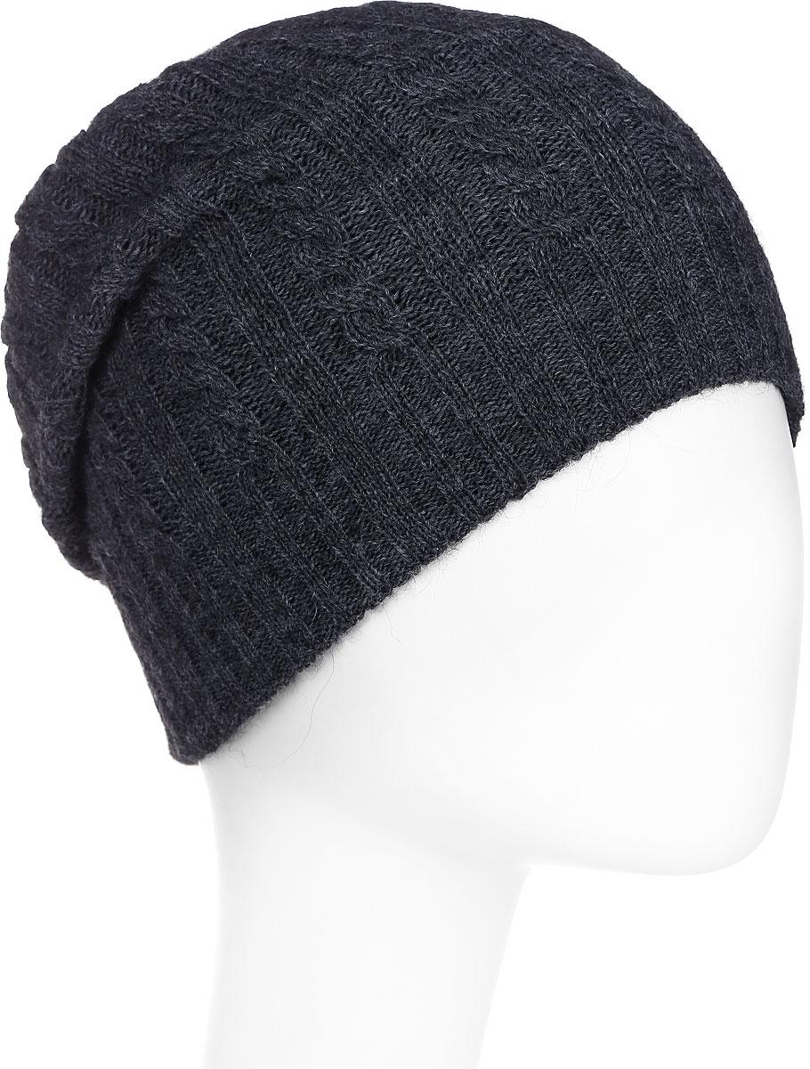 Шапка женская Paccia, цвет: темно-серый. NR-21715-2. Размер 55/58NR-21715-2Вязаная женская шапка Paccia выполнена из акрила с добавлением шерсти. Эта шапка не только согреет в прохладную погоду, но и стильно дополнит ваш образ.