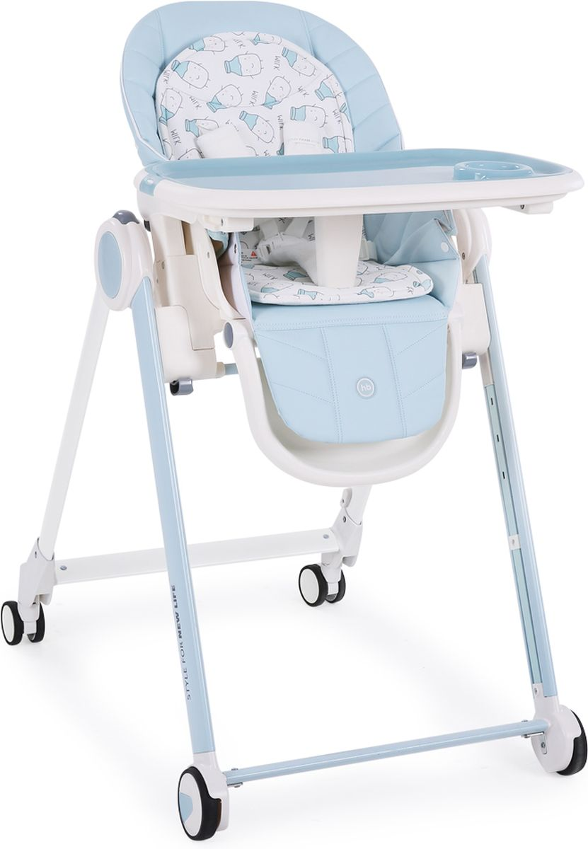 Happy Baby Стульчик для кормления Berny цвет голубой