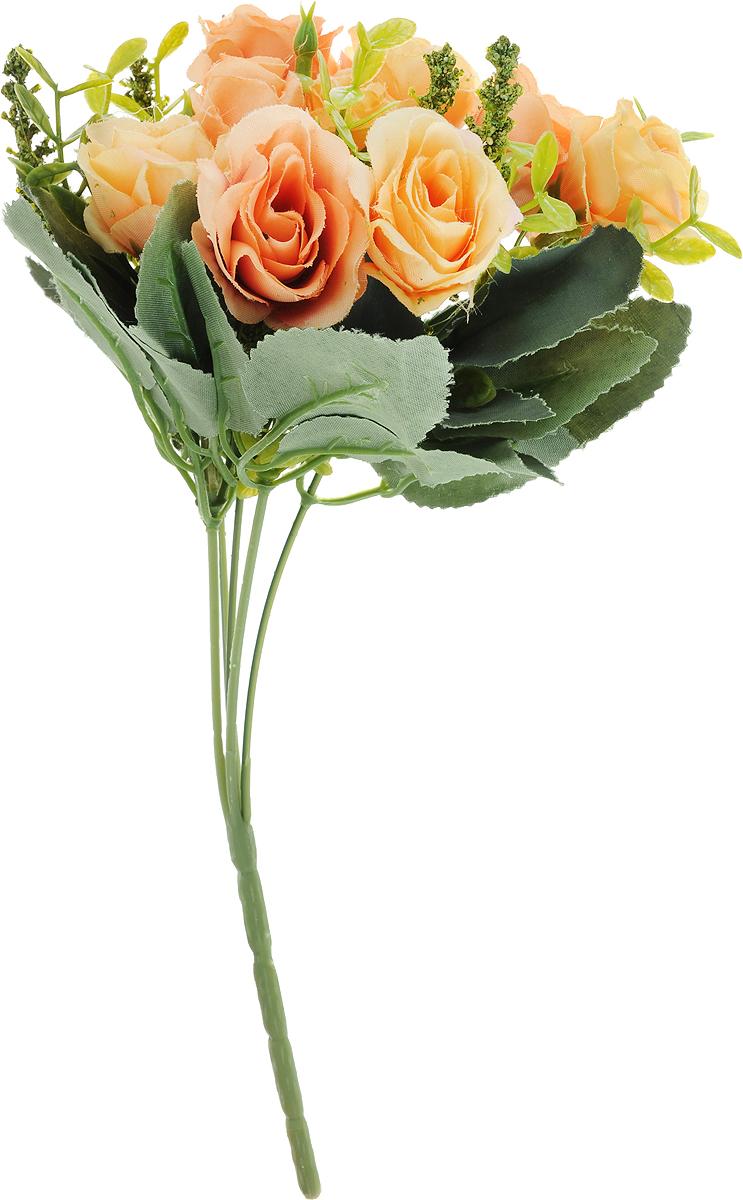 Цветы искусственные Engard Роза в букете, цвет: желтый, оранжевый, высота 30 см. E4-238R цветы искусственные engard лаванда высота 30 см