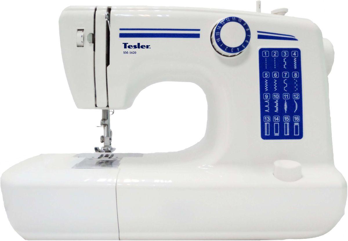 Tesler SM-1620, White швейная машинкаSM-1620Простейшая полноразмерная швейная машинка среднего уровня станет незаменимой помощницей для хозяеккоторым важно качество шитья за небольшие деньги. Имеет довольно богатую комплектацию и широкий функционал.