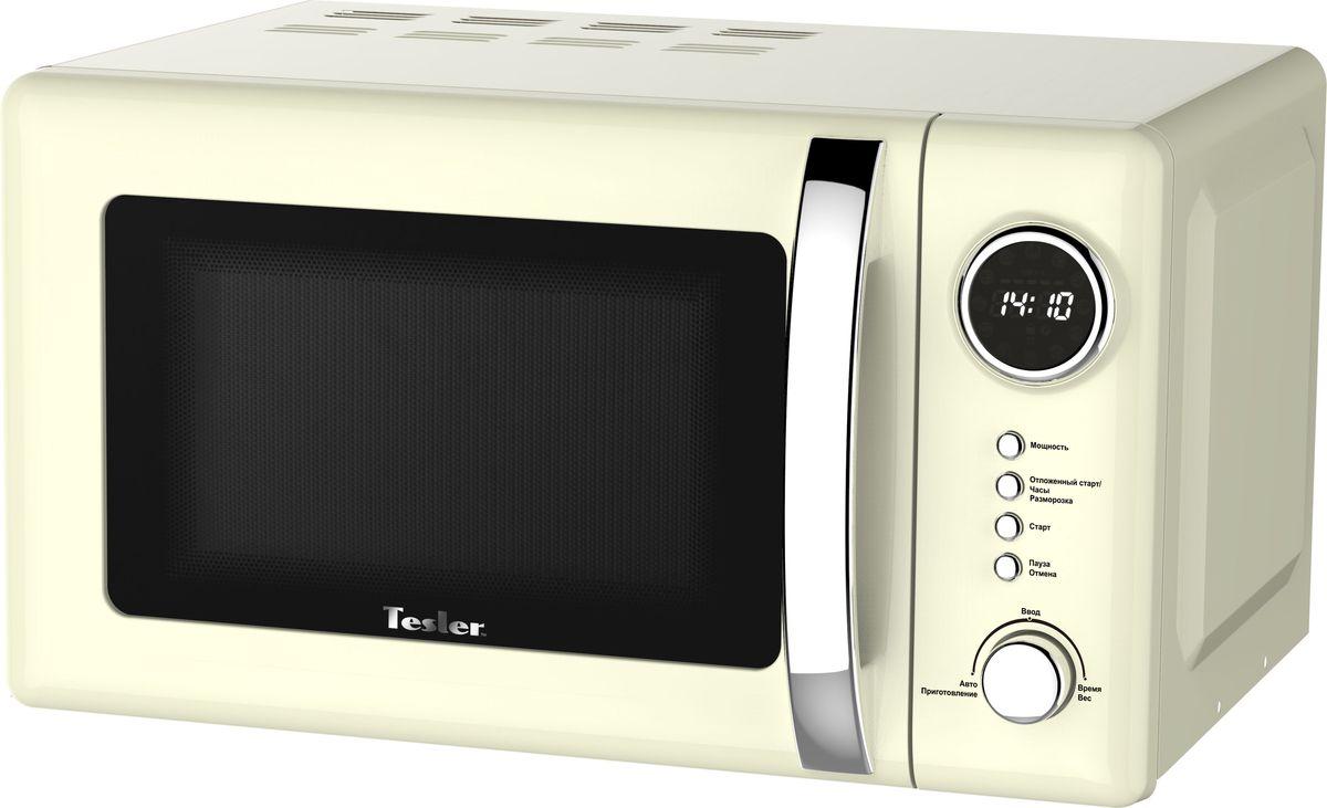 Tesler ME-2055, Beige микроволновая печьME-2055 BEIGEМикроволновая печь с классическим дизайном в интересном цветовом решении надежна и проста в управлении. Имеет возможность выбора необходимого уровня мощности и времени приготовления.