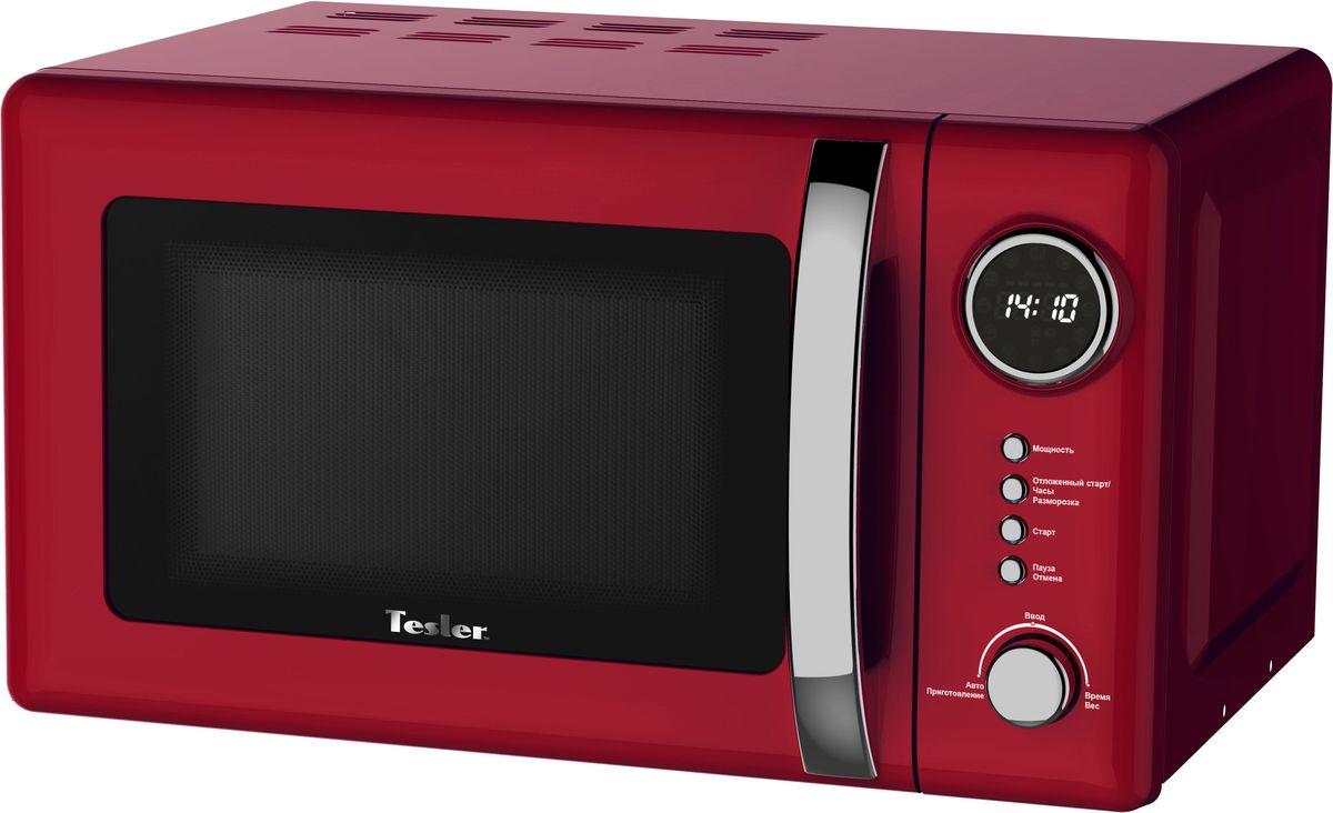 Tesler ME-2055, Red микроволновая печьME-2055 REDМикроволновая печь с классическим дизайном в интересном цветовом решении надежна и проста в управлении. Имеет возможность выбора необходимого уровня мощности и времени приготовления.