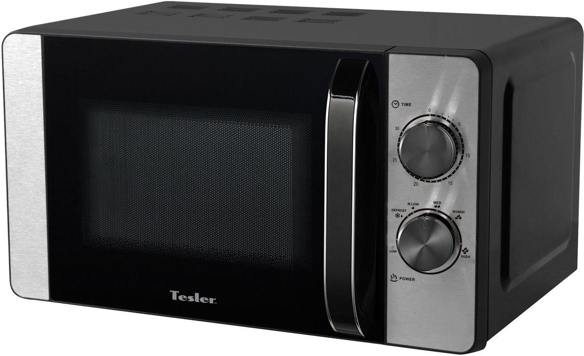 Tesler MG-2060, Black микроволновая печьMG-2060Микроволновая печь с удобным механическим управлением, вместительный объем рабочей камеры. Наличие гриля мощностью позволяет запекать мясные и рыбные продукты. Функция размораживания позволяет с легкостью подготавливать продукты для их дальнейшего приготовления.