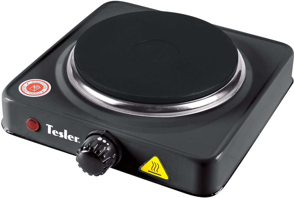 Tesler PE-13, Black плитка электрическаяPE-13 BLACKНадежная электроплита с одной конфоркой. Идеальна для дома и дачин6 в любое время года. Компактный корпус из металла, покрытого чёрной эмалью, позволит легко мыть и ухаживать за прибором. Имеет регулятор нагрева и индикацию включения. По достижению заданной температуры нагрева автоматически поддерживает заданный режим.