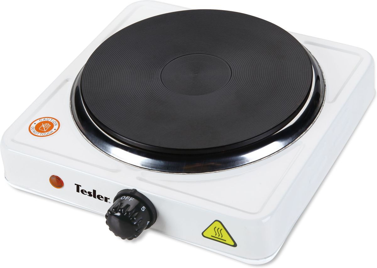 Tesler PE-15, White плитка электрическаяPE-15 WHITEСамый простой и недорогой вариант для приготовления пищи или разогрева - это миниатюрная электрическая плитка. Она качественно и быстро разогревается, отлично держит температуру и не создает практически никаких поводов для недовольства или проблем. Крошечные размеры не мешают этой модели плитки.