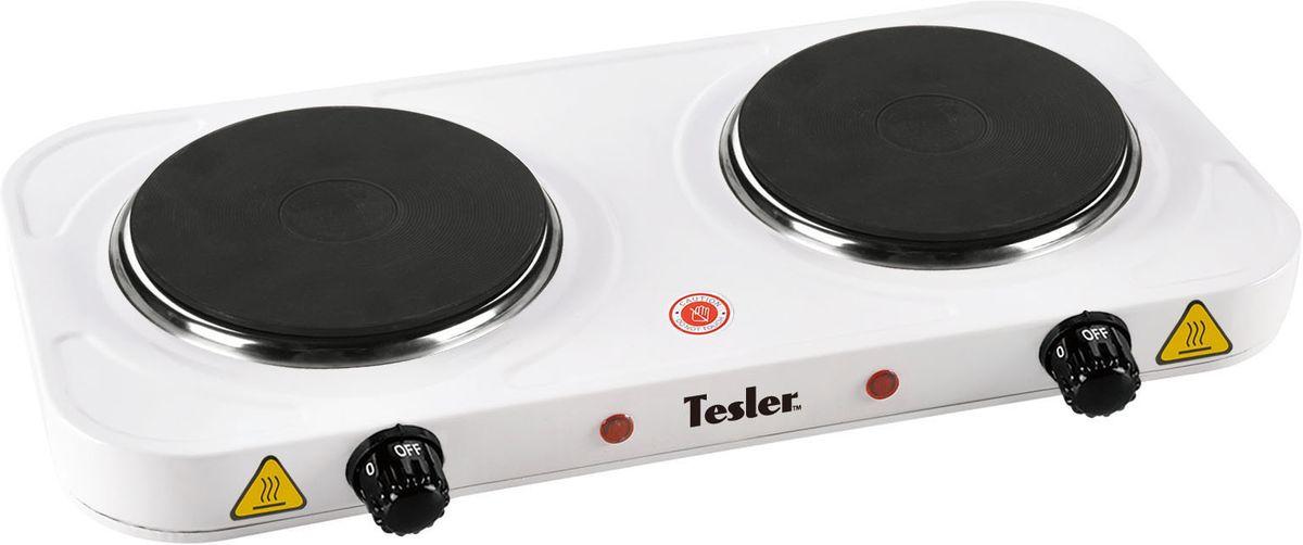 Tesler PE-20, White плитка электрическаяPE-20 WHITETesler PE-20- простая и надежная электроплита с двумя конфорками. Идеальна для дома и дачи, в любое время года. Изящный корпус из металла покрытого жаропрочной эмалью, позволит вписаться в интерьер любого помещения. Имеет регулятор нагрева и индикацию включения. По достижению заданной температуры нагрева, автоматически поддерживает заданный режим.