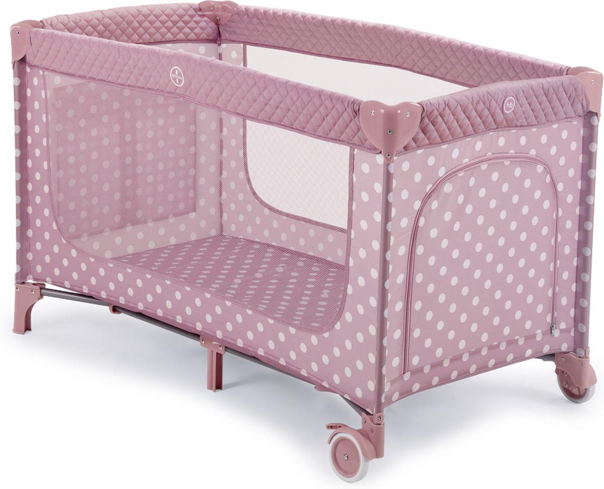 Happy Baby Манеж-кровать Martin Pink цвет розовый белый