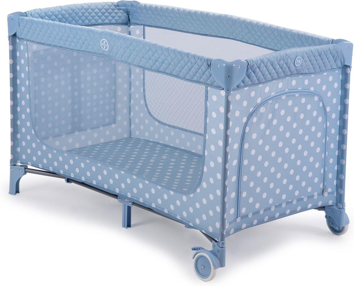 Happy Baby Манеж-кровать Martin Aqua цвет голубой белый - Детская комната