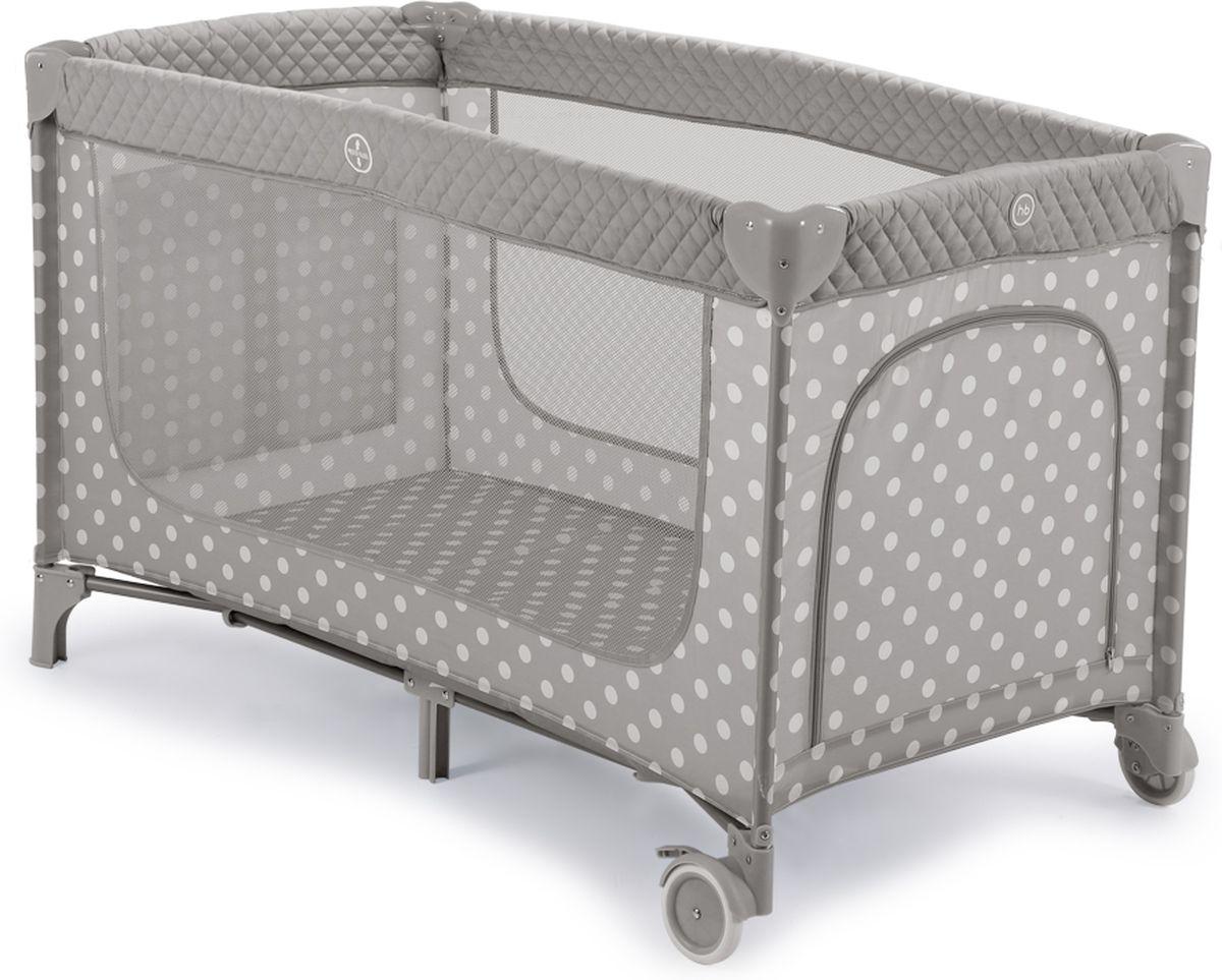 Happy Baby Манеж-кровать Martin Stone цвет серый белый - Детская комната