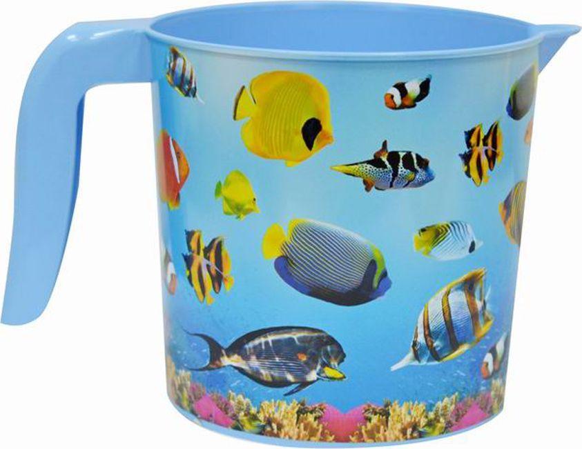 """Кружка """"Океан"""" выполнена из высококачественного пластика.  Кружка имеет удобную ручку. Вместительная.  Кружка выполнена из прочного материала. Объем: 1 л.  Такая кружка прекрасно подойдет для дома и дачи."""