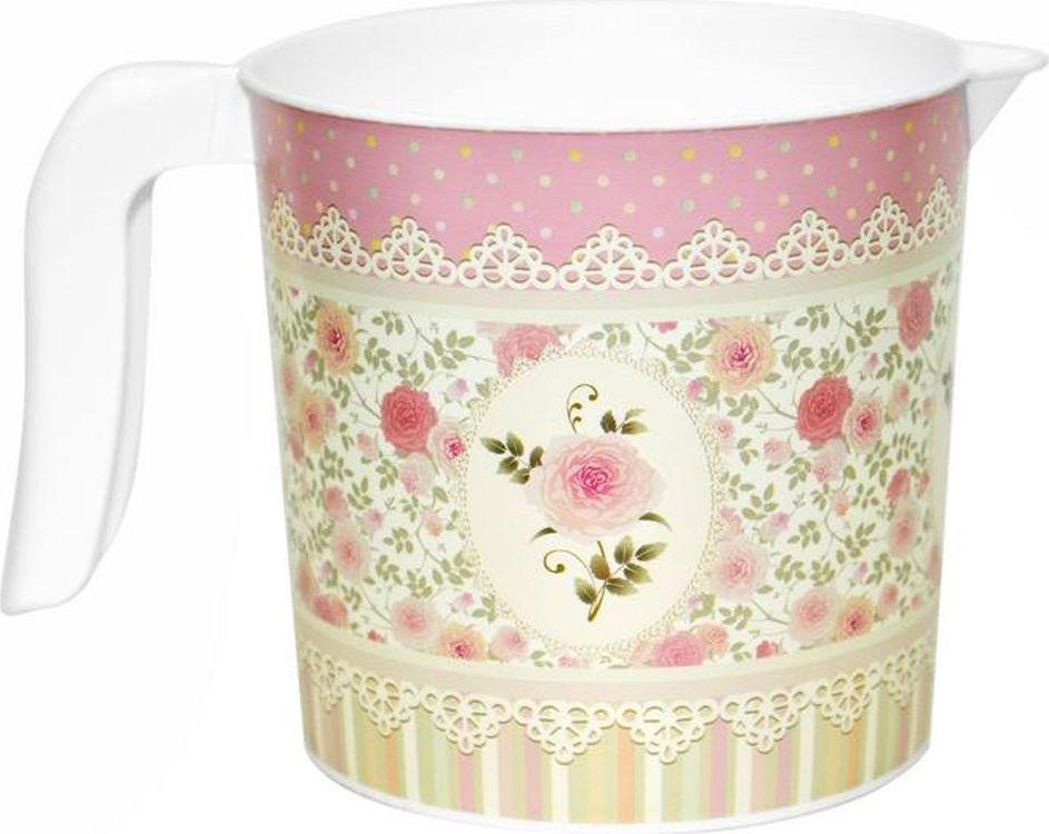 Кружка Violet Чайная роза, 1 л281065Кружка с декором Чайная роза изготовлена из высококачественного пластика.Изделие оснащено удобной ручкой. Такая кружка прекрасно подойдет для дома и дачи. Прочная, вместительная кружка легко моется.