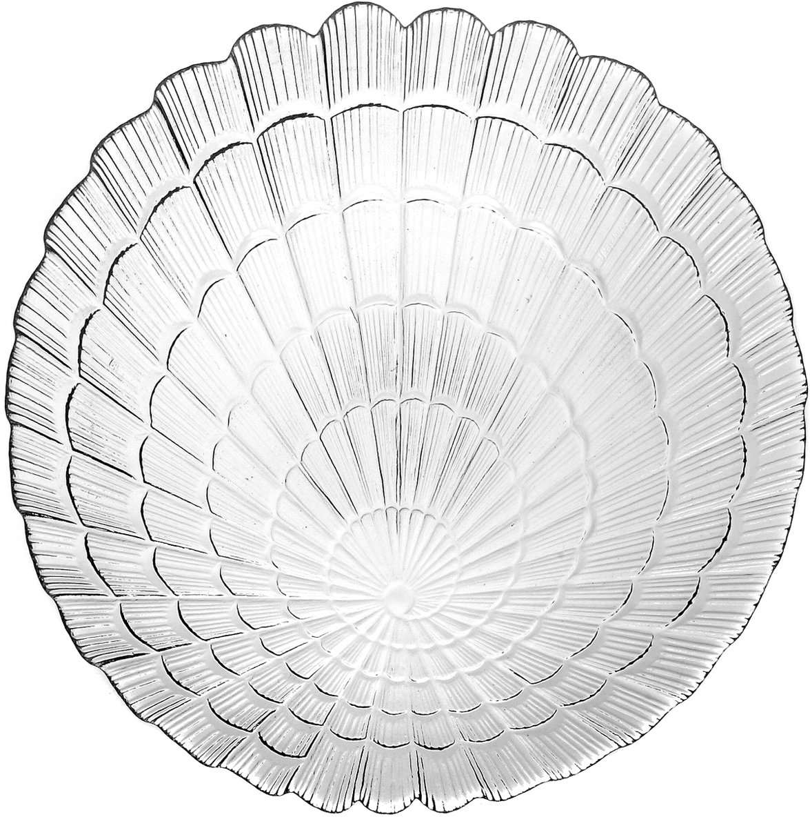 Тарелка Pasabahce Атлантис, цвет: прозрачный, диаметр 24 см10236SLBТарелка из закаленного стекла ATLANTIS 240 мм (прозрачное рифленое стекло)