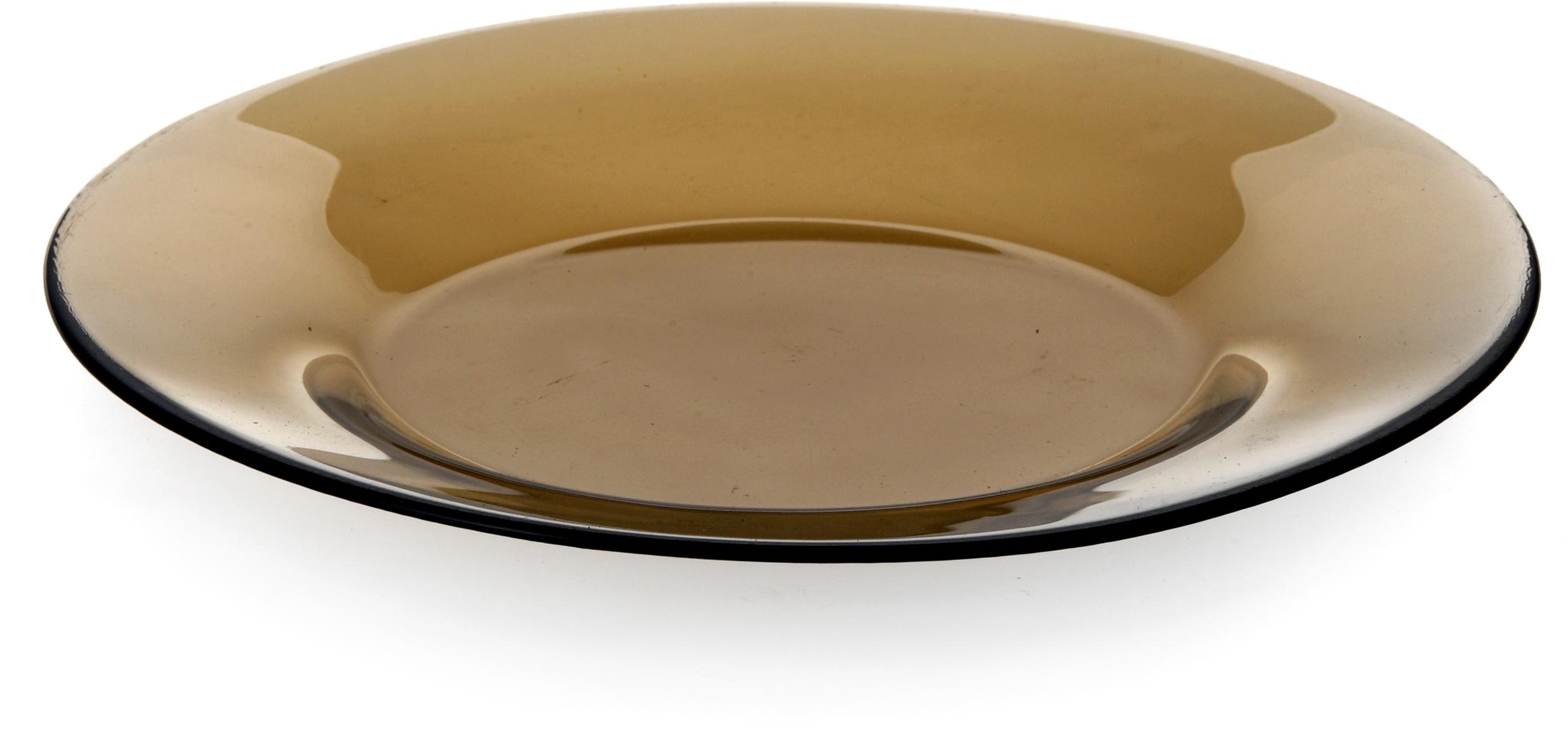 Тарелка Pasabahce Броунз, цвет: коричневый, диаметр 20 см10327SLBZТарелка из закаленного стекла INVITATION d=200 мм (BRONZE) (прозрачное тонированное стекло)