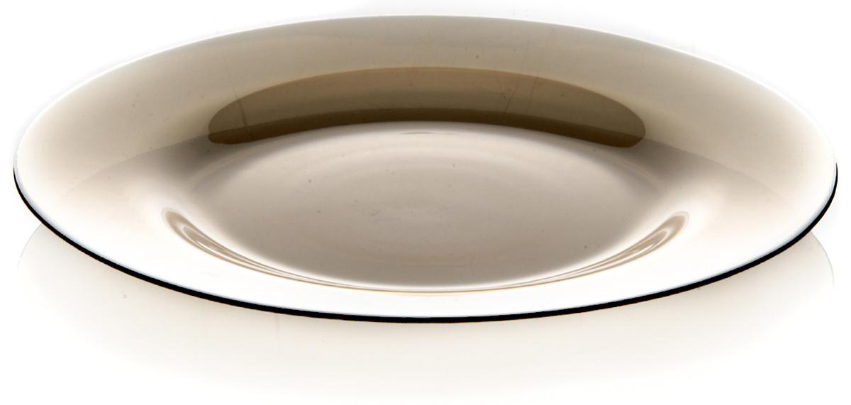 Тарелка из закаленного стекла INVITATION d=260 мм (BRONZE) (прозрачное тонированное стекло)