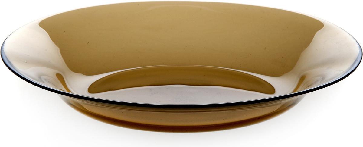 Тарелка Pasabahce Броунз, цвет: коричневый, диаметр 22 см. 10331SLBZ10331SLBZТарелка из закаленного стекла INVITATION d=220 мм h=35мм (BRONZE) (прозрачное тонированное стекло)