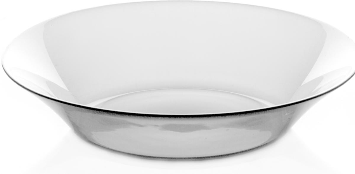 Тарелка Pasabahce Инвитейшн, цвет: прозрачный, диаметр 22 см10335SLBТарелка из закаленного стекла INVITATION d=220 мм h=45мм (прозрачное стекло)