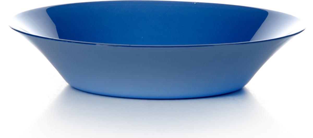 Тарелка глубокая Pasabahce Блю виллаж, цвет: синий, диаметр 22 см тарелка глубокая из упрочненного стекла нейчер диаметр 220 мм 1153328